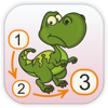 Dinosaurs - Connect the Dots and Add Colors - Kedronic UAB