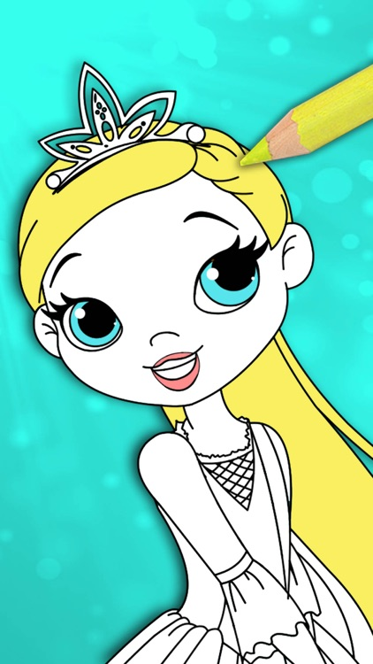 Princess coloring pages for kids – Pro screenshot-4