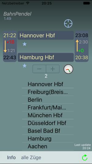 BahnPendel Screenshot