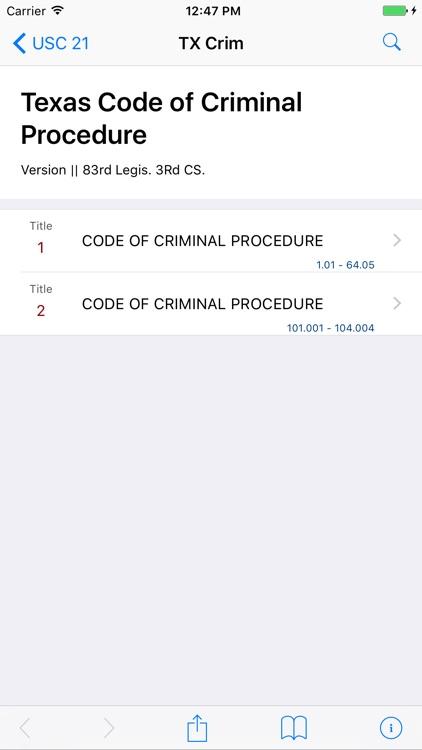Texas Code of Criminal Procedure (LawStack's TX)