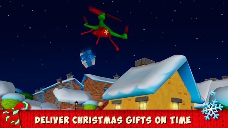 Christmas Cartoon Quadcopter Drone Simulator Full screenshot-3