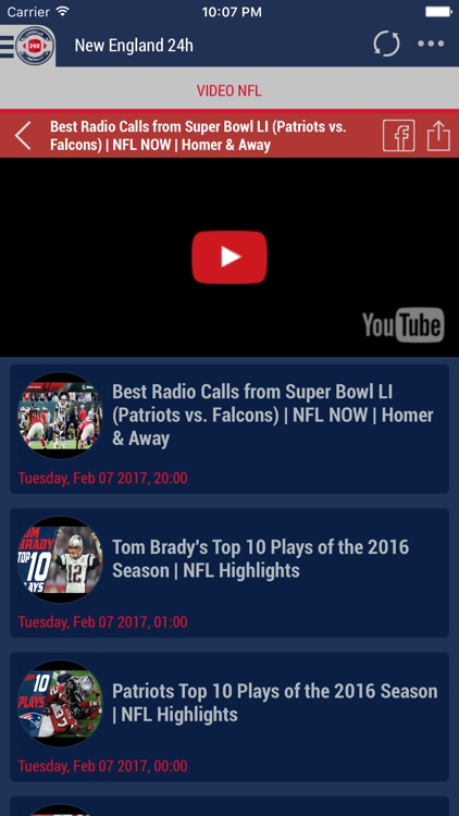 24h News for New England Patriots