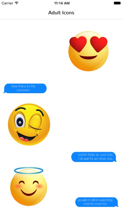 Adult Emoji Icons - Funny Stickers for Chatting