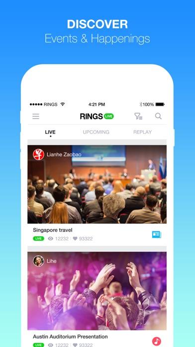 RINGS LIVE - Interactive Broadcasting Platform Screenshot