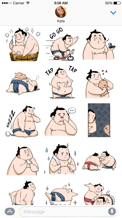 Ringo the Sumo Wrestler stickers screenshot-3