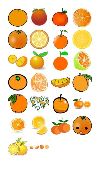 Fresh Oranges Sticker Pack