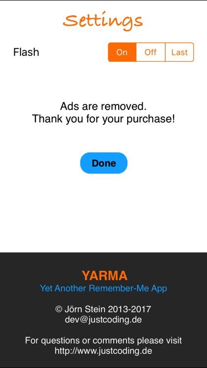 Yarma - Yet Another Remember-Me App screenshot-3