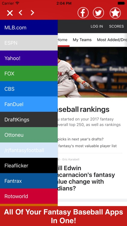 Fantasy Baseball All In One Pro - Tools News +More