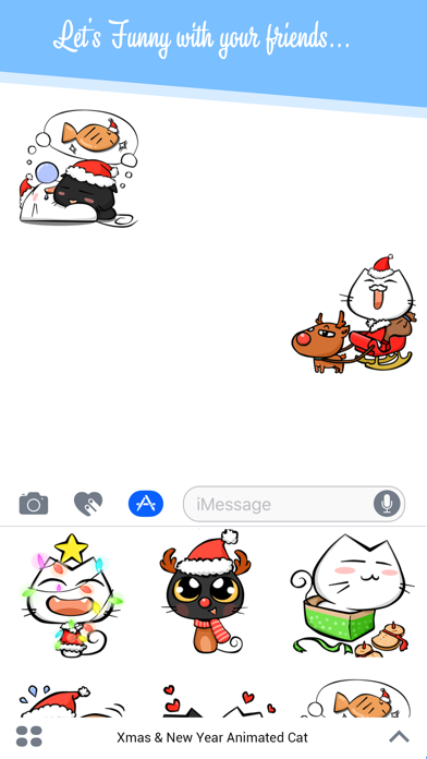 Xmas & New Year Animated Cat screenshot three