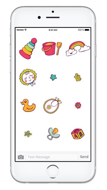 Baby Stuff Icons New Mom Sticker Pack screenshot-3
