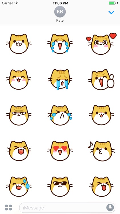 Moses The Cute Cat Sticker Faces