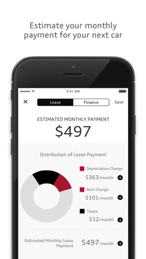 Estimate Lease Payment >> Audi Financial On The App Store