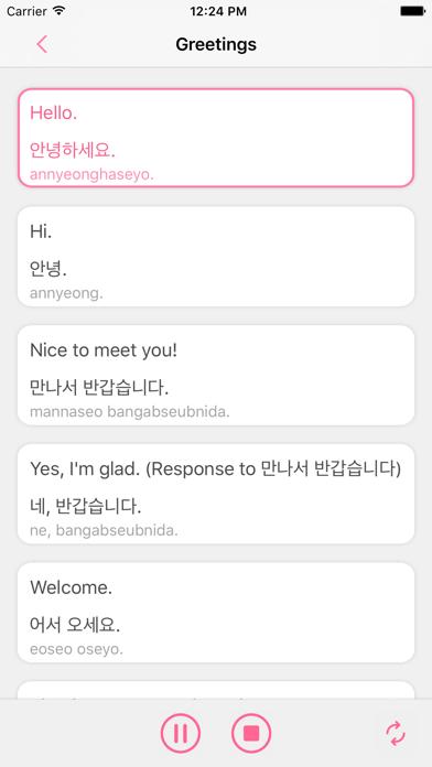 Learn Korean - Korea Guide Phrasebook screenshot two