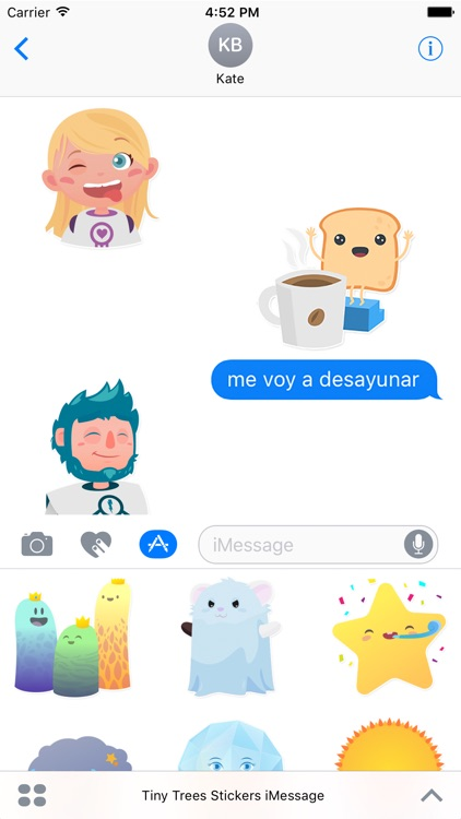 Tiny Trees Stickers for iMessage screenshot-2