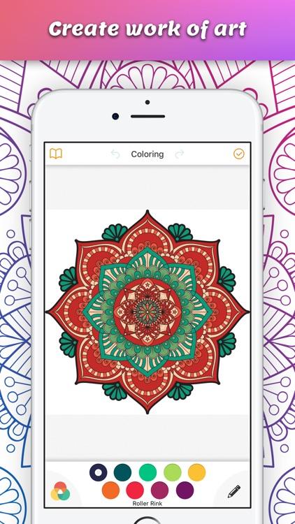 Mandalas Coloring Book Calm Adults Color Therapy Screenshot 2