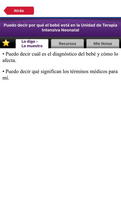 Nuestro Camino en Terapia Intensiva Neonatal screenshot two