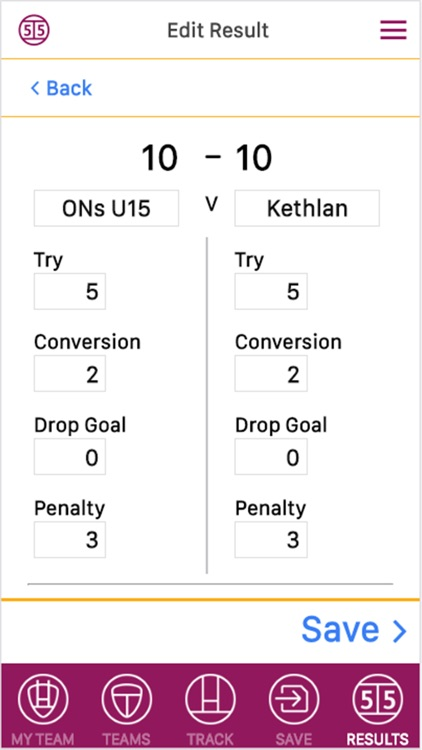 Rugby Score Tracker Pro screenshot-1