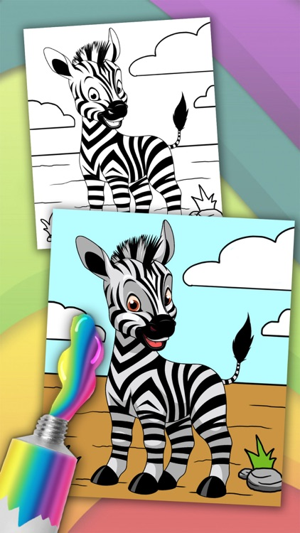 Animals magic coloring pages – kids coloring book screenshot-3
