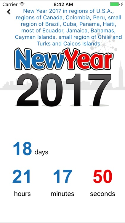 New Years Countdown by timeanddate.com