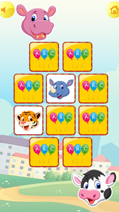 Zoo Animals Matching Puzzle Game for Kids screenshot two