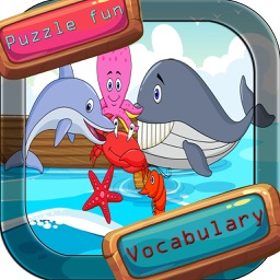 Sea animal vocabulary games puzzles for kids