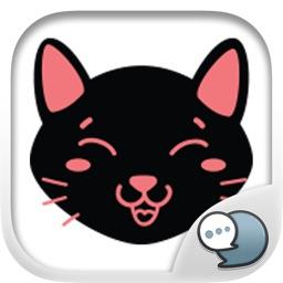 Black Cat Feeling Emotion Sticker By ChatStick
