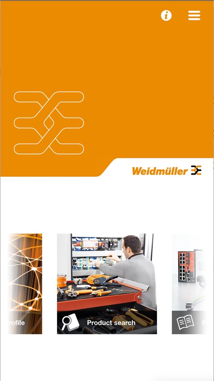 Weidmüller Catalogue Screenshot