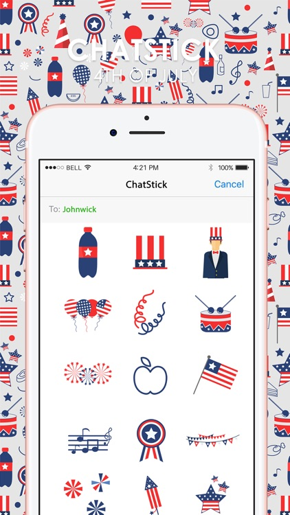 4th of July Stickers & Emoji Keyboard