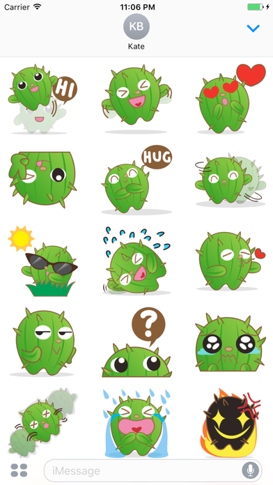 Crosby The Cute And Friendly Cactus Stickers