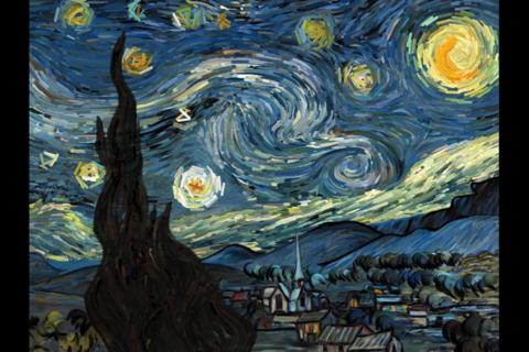 Starry Night Interactive Animation - náhled