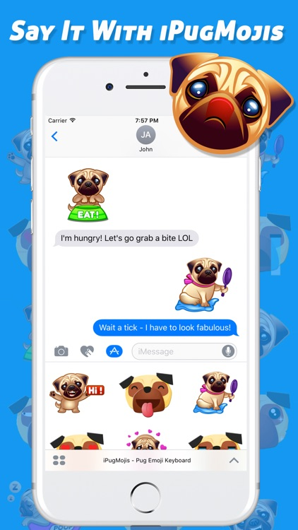 iPugMojis - Pug Emoji Keyboard screenshot-0