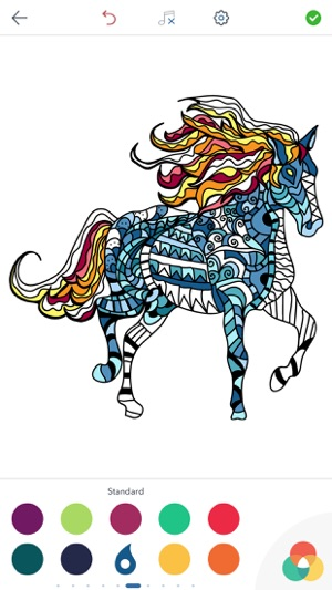 Horse Coloring Book for Adults on the App Store