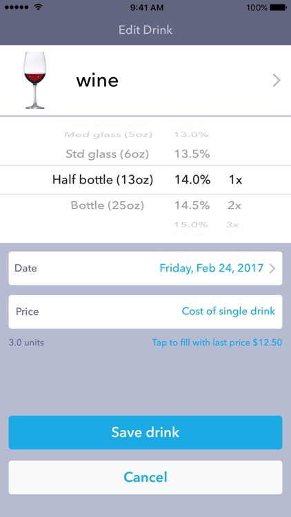DrinkControl - Track Drinks & Alcohol Expenses