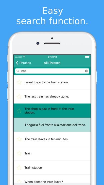 Simply Learn Italian - Travel Phrasebook for Italy screenshot-4
