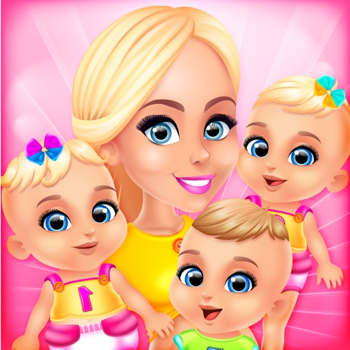 Mommys Triplets Baby Story - Makeup & Salon Games