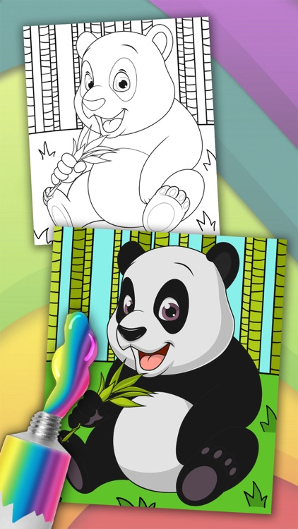 Animals magic coloring pages – kids coloring book