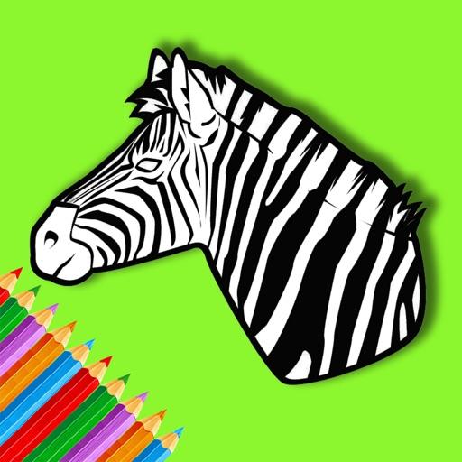 Zebra Coloring Book For Kids Education by Piyawan Chamnarnchanan