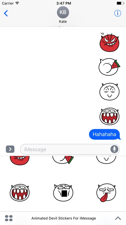 Animated Devil Emoji Stickers For iMessage screenshot-3