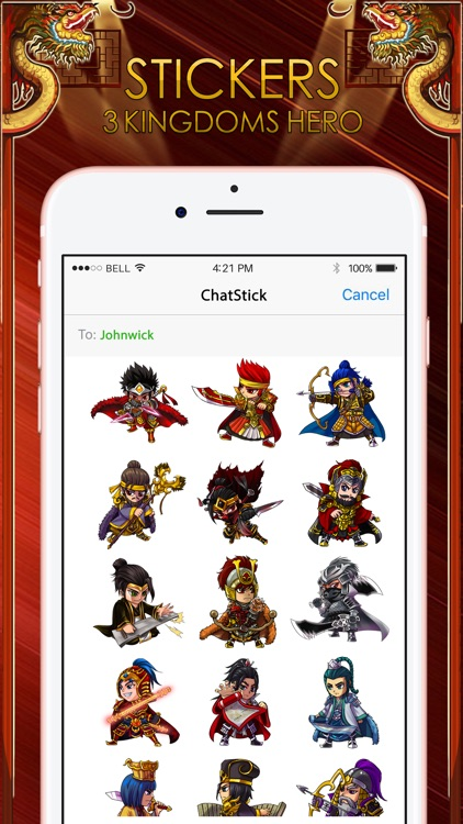3Kingdoms Stickers for iMessage