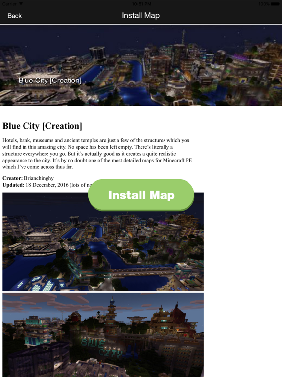 FREE Mansion & City Maps For Minecraft PE MCPE screenshot