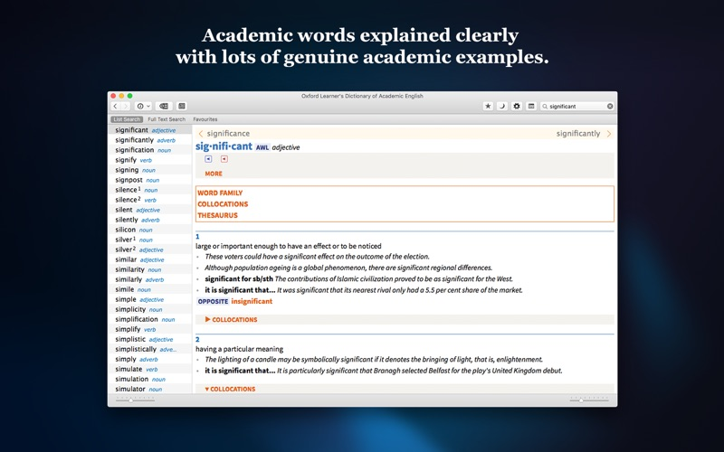 Oxford Learner's Dictionary of Academic English App Details, Reviews