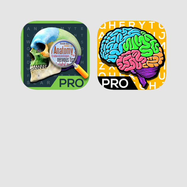 ‎Anatomy + Neuroanatomy Word Search Pro- Medical Terminology & Dictionary  Puzzle