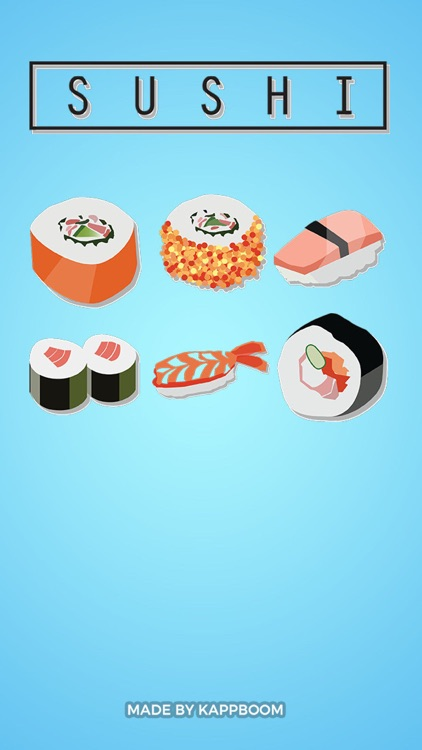 Sushi Stickers by Kappboom