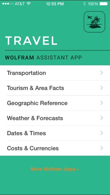 Wolfram Travel Assistant App