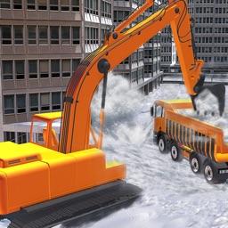 Snow Plow Truck Excavator Simulator 3D - Snowplow
