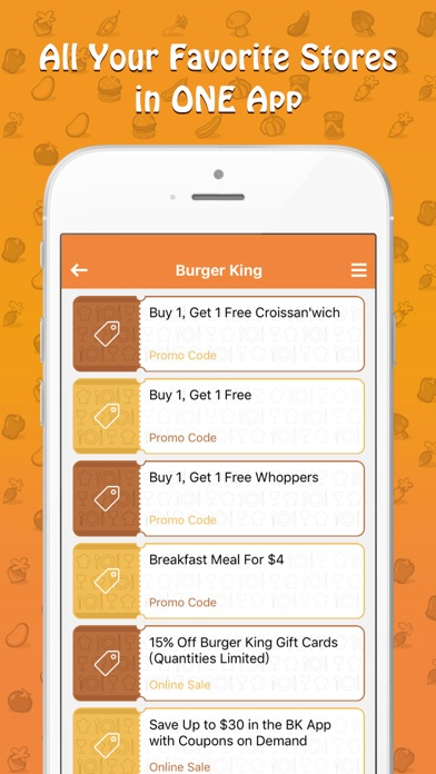 Food Coupons - Restaurants, Grocery & Drug Stores screenshot one