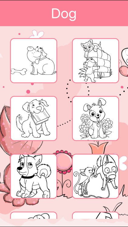 Dog Coloring Book For Kids Learn To Color Draw Screenshot 2