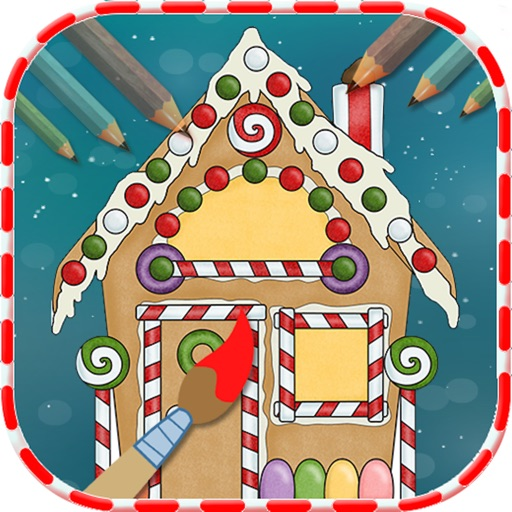 Christmas House Coloring Book