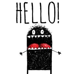Hello Happy Monster Sticker Pack