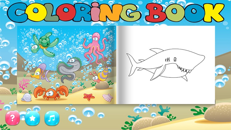 Fun Sea Animal Coloring Book Games for Kids